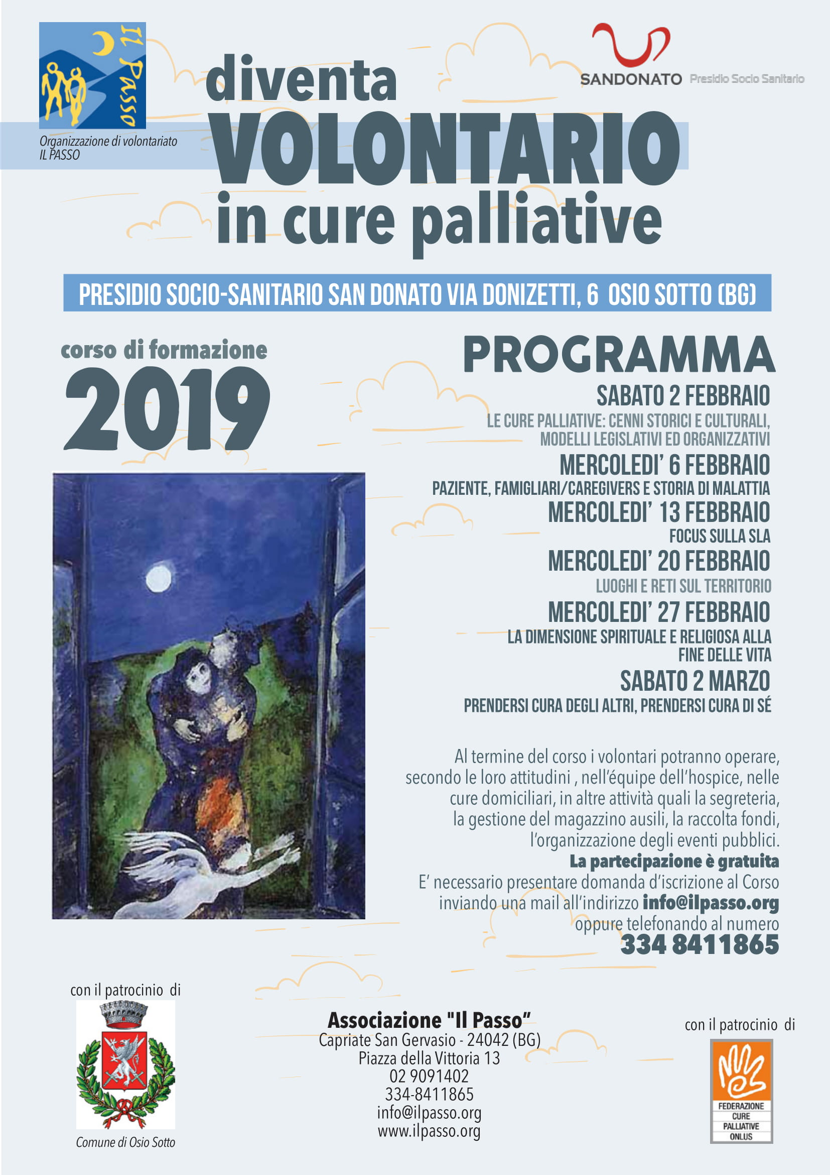 Diventa volontario in cure palliative